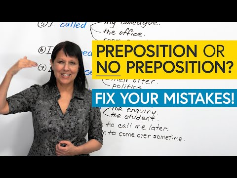 10 Common Mistakes with Verbs & Prepositions in English