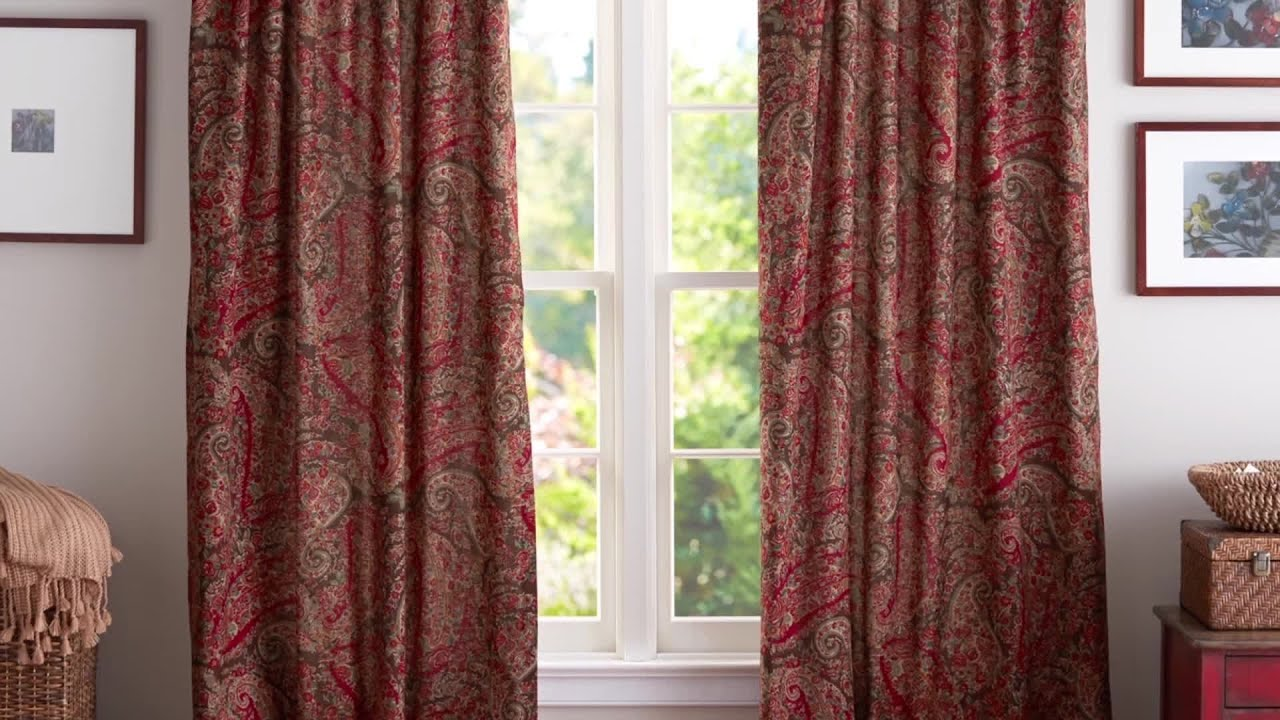 how to hang curtains pottery barn youtube - Hanging Drapery