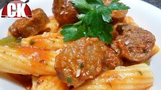 Pasta With Italian Sausage And Peppers - Chef Kendra's Easy Cooking!
