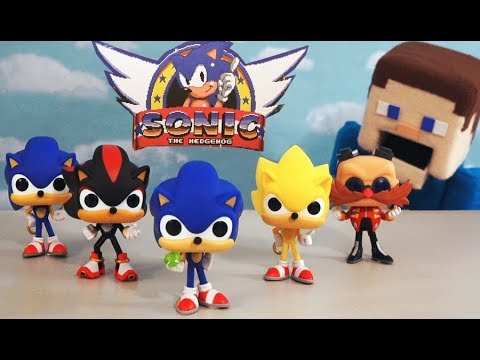 Sonic The Hedgehog Movie Funko Pop Cartoon Action Figures Complete Toys Set Unboxing Puppet Steve Youtube
