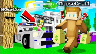$10,000,000 MANSION COPS AND ROBBERS in MINECRAFT! (With Unspeakable and Shark)