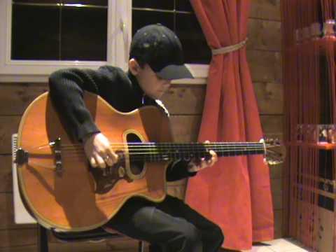 swan berger à 11 ans guitar jazz manouche - YouTube