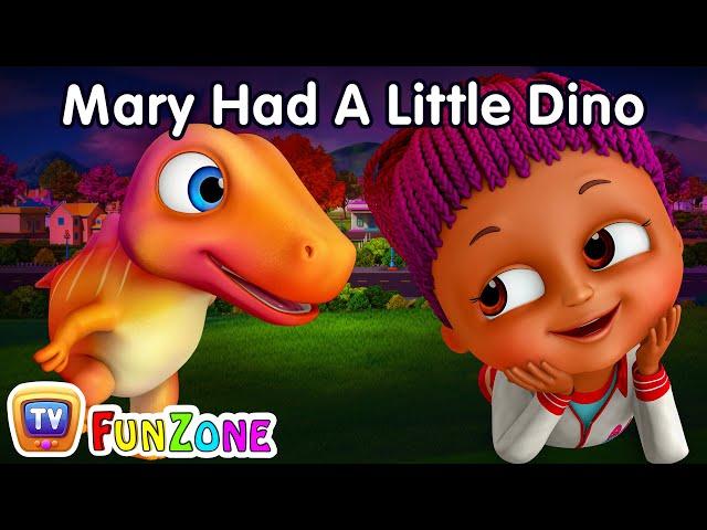 Mary Had A Little Dino - Dinosaur Rhymes for Babies | ChuChu TV Nursery Rhymes & Kids Songs