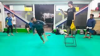 Xoay 1 vòng rưỡi rồi đá trên không  | 540 Kicks Funny Clip | Taekwondo Skill Highlight in HCM City