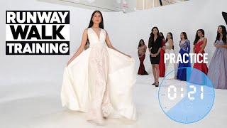 Runway Walk Training | Modeling Class On How To Catwalk In Heels