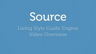 SourceJS - Living Style Guide Engine Overview