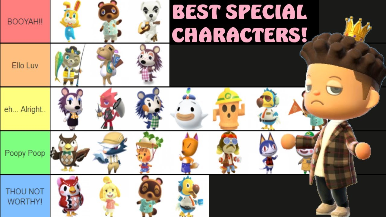 Best Special Characters In Animal Crossing New Horizons Tier List