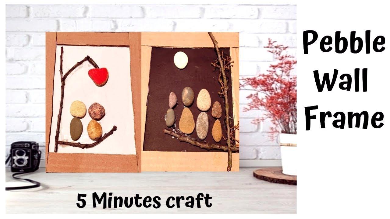 2 Pebble Art Frame / Wall Decor/Stones craft /Cardboard ...
