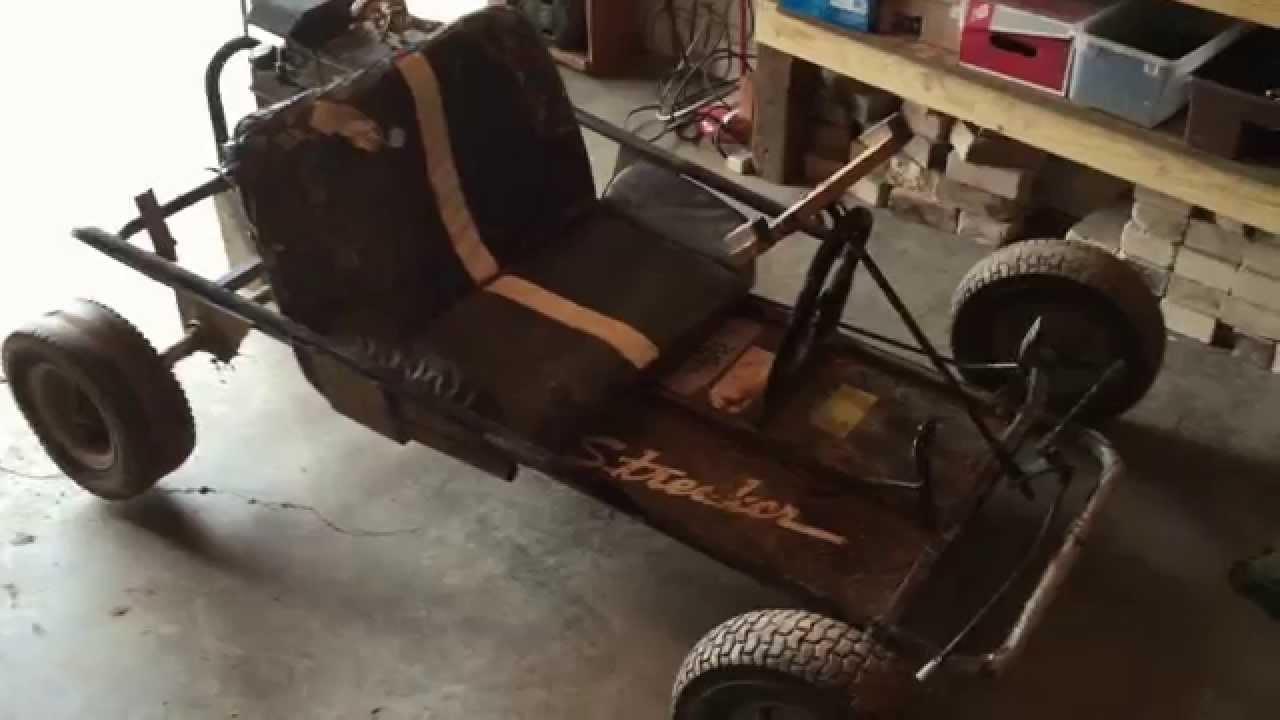 rebuilding an old go kart part 1 - YouTube