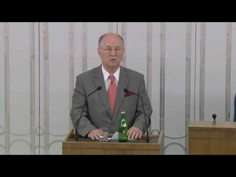 Senator prof. Michał Seweryński o przestrzeganiu wolności i praw człowieka i obywatela.
