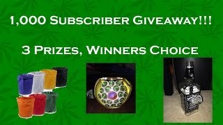 1000 Subscriber Giveaway!! 3 Chances to Win