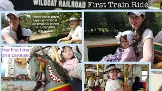Miniature Train Ride Billy Jones Wildcat Railroad & Carousel
