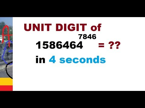 UNIT DIGIT in A complicated number EASIEST TRICKS for POWER GRID  recruitment 2017