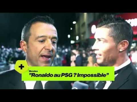 """Jorge Mendes :""""C'est impossible que Cristiano vienne à Paris."""""""
