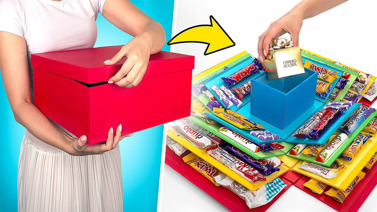 Коробка для фанатов сладостей / Простой видеоурок