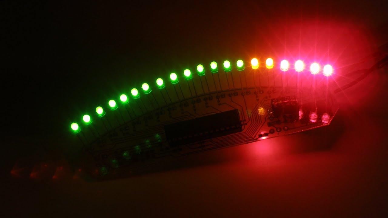 Тахометр світлодіодний дугою