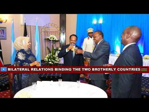 SOMALI PRESIDENT MOHAMED FARMAJO - OFFICIAL VISIT TO KENYA + JOINT PRESS CONFERENCE WITH PRES. UHURU