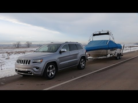 2014 Jeep Grand Cherokee EcoDiesel 0-60 MPH Towing Review ...