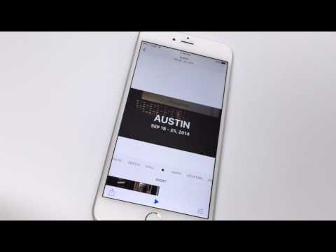 How to make a picture slideshow on an iphone
