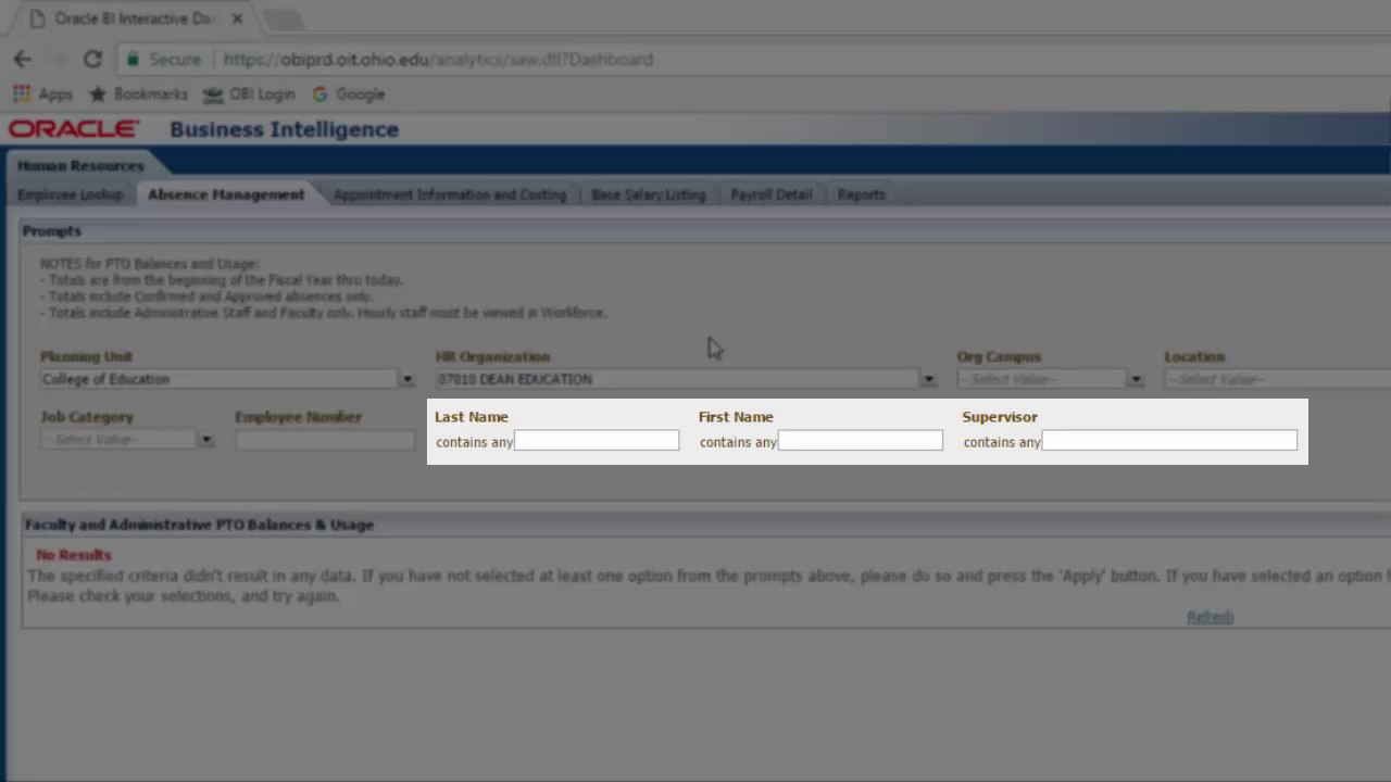 Human Resources Dashboard: Absence Management Dashboard Page - YouTube