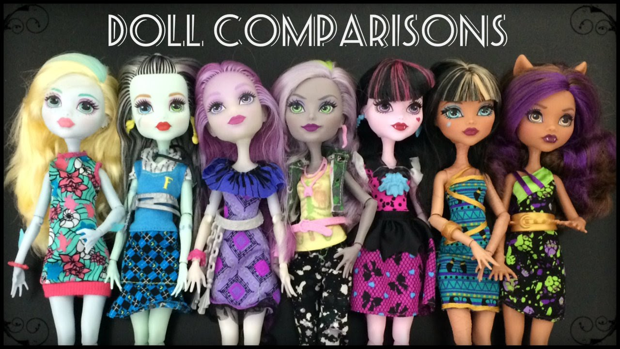 welcome to monster high dolls reboot doll comparisons youtube