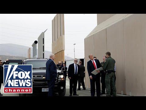 President Trump previews border wall prototypes