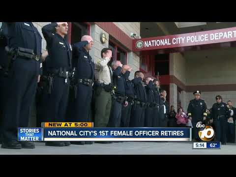 Surprising career change for National City's first female officer