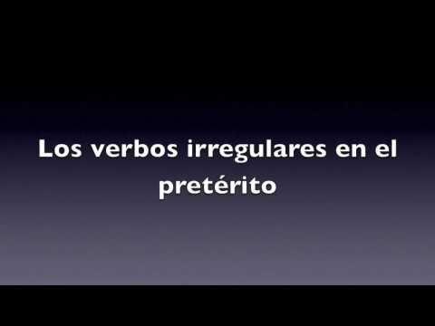 Canción de los verbos irregulares en el pretérito