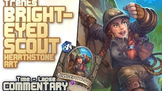 Bright-Eyed Scout Hearthstone art (time-lapse with commentary)