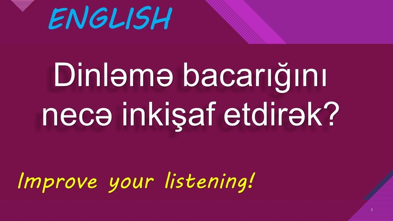 İngilis dili - Dinləmə Bacarığı