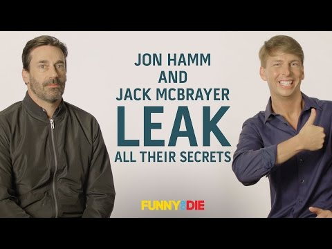 Jon Hamm and Jack McBrayer Leak All Their Secrets (Before The Government Can Sell Them)