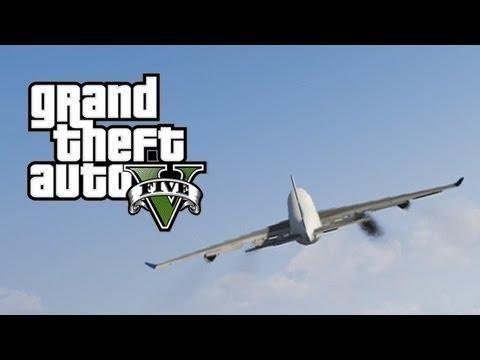 GTA 5 - Jumbo Jet Gameplay - With Random Ending