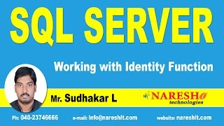 Working with Identity Function in SQL Server | MSSQL Training Tutorial