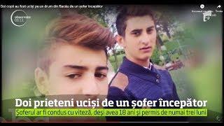 Doi copii au fost ucişi pe un drum din Bacău de un şofer începător