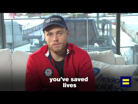 LGBTQ Olympian Gus Kenworthy Thanks HRC for Saving Lives