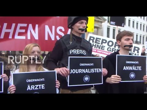 Germany: 'No to German NSA' - Activists protest mass surveillance bill in Berlin