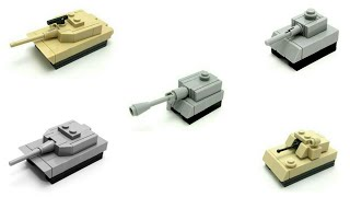How to build different tank LEGO (mini)