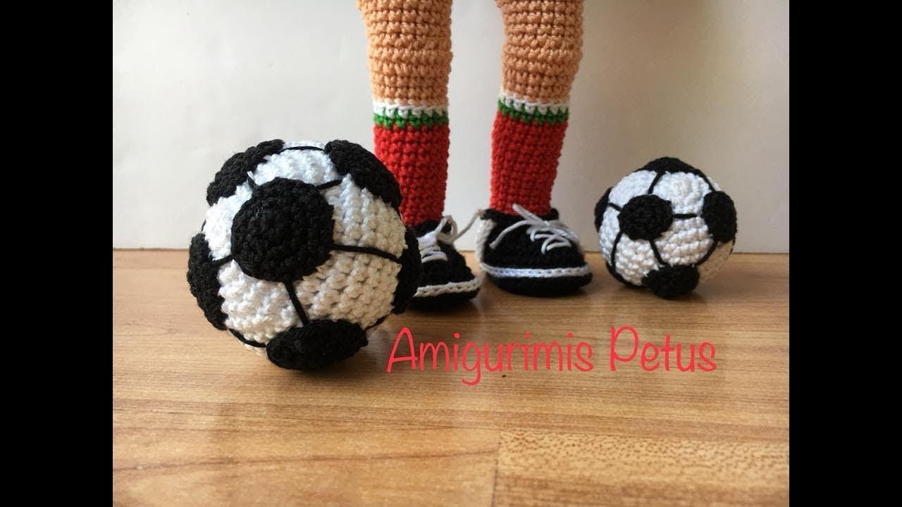 Como tejer balón de futbol en crochet, amigurumis Petus - YouTube