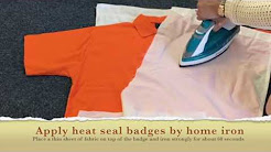 Ironing on a Badge