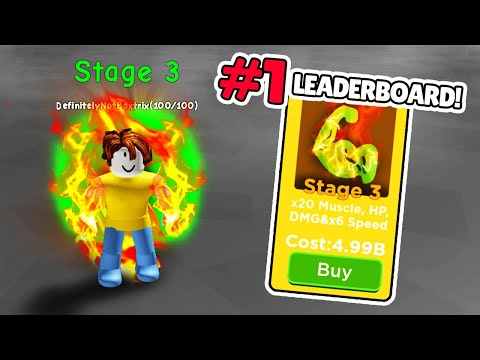 Getting The HIGHEST STAGE EVOLUTION in roblox big lifting