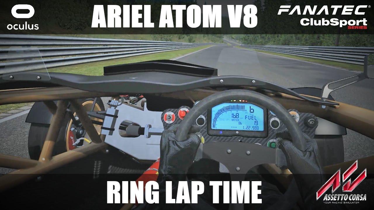 Ariel atom v8 quick lap around nurburgring nordschleife in vr oculus rift fanatec clubsport
