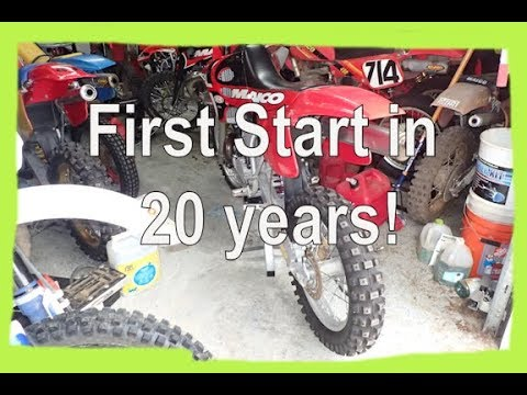 Dirtbike starting up first time in 20 years 1997 Maico 500 Dirtbike Garage: S1 E16