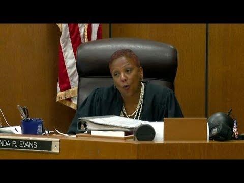 Judge Vonda Evans sentences William Melendez