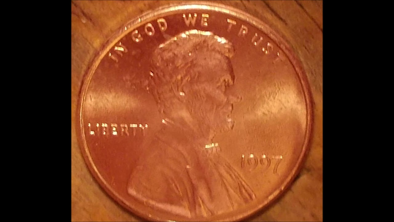 The New KING of 1997  Ultra Rare Double Die Lincoln cent in High Grade!