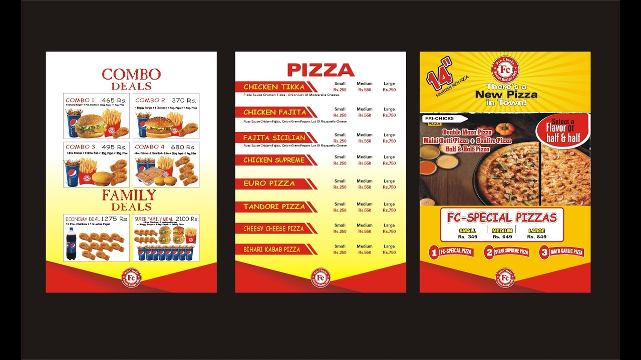 Fast food menu design corel draw youtube