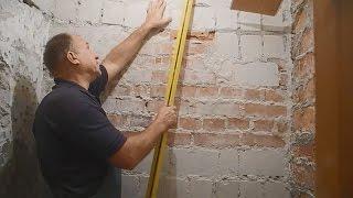 Как оштукатурить стену,заваленную на 10см ч.1(В этом видео показано и рассказано как в один прием,простым способом,выставить маяки для штукатурки стены,з..., 2015-11-10T18:46:21.000Z)