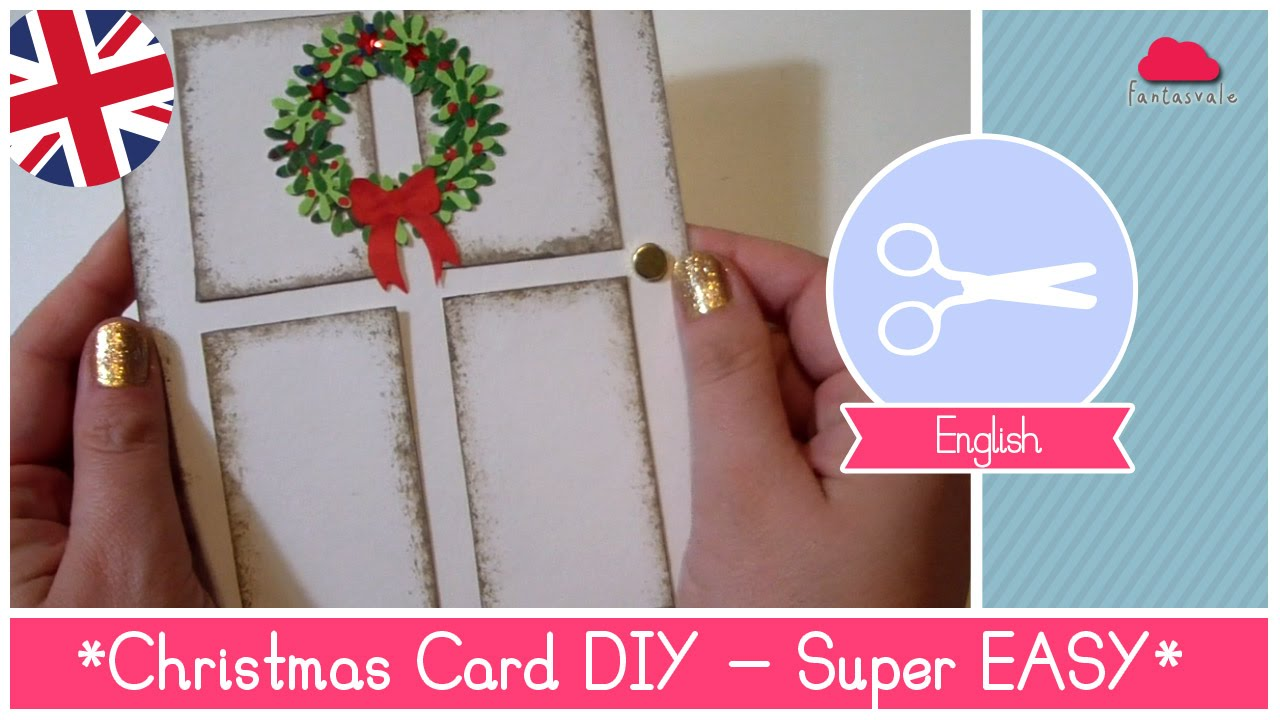 Tutorial christmas card diy idea super easy and stunning for Pinterest diy christmas cards