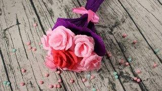 Как сделать розу из гофрированной бумаги. Мастер класс