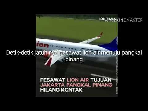#Detik Detik Jatuh Nya Pesawat Lion Air JT-610 Tujuan Jakarta-Pangkal Pinang, Karna Hilang Kontak.