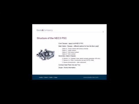 Beale & Company Webinar:  Construction Law Update - NEC3 Professional Services Contract